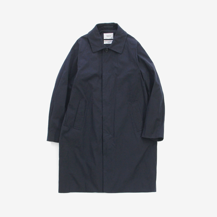 YAECA(MEN) / SOUTIEN COLLAR COAT - STANDARD / NAVY
