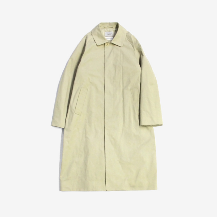 YAECA(MEN) / SOUTIEN COLLAR COAT - LONG / BEIGE