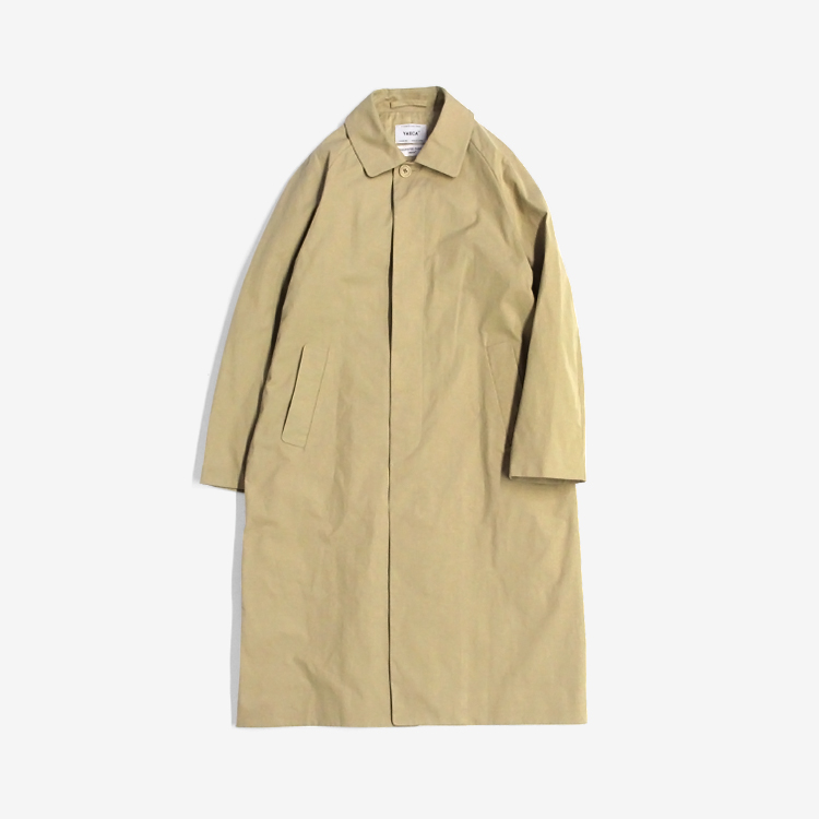 YAECA(MEN) / SOUTIEN COLLAR COAT - LONG / KHAKI