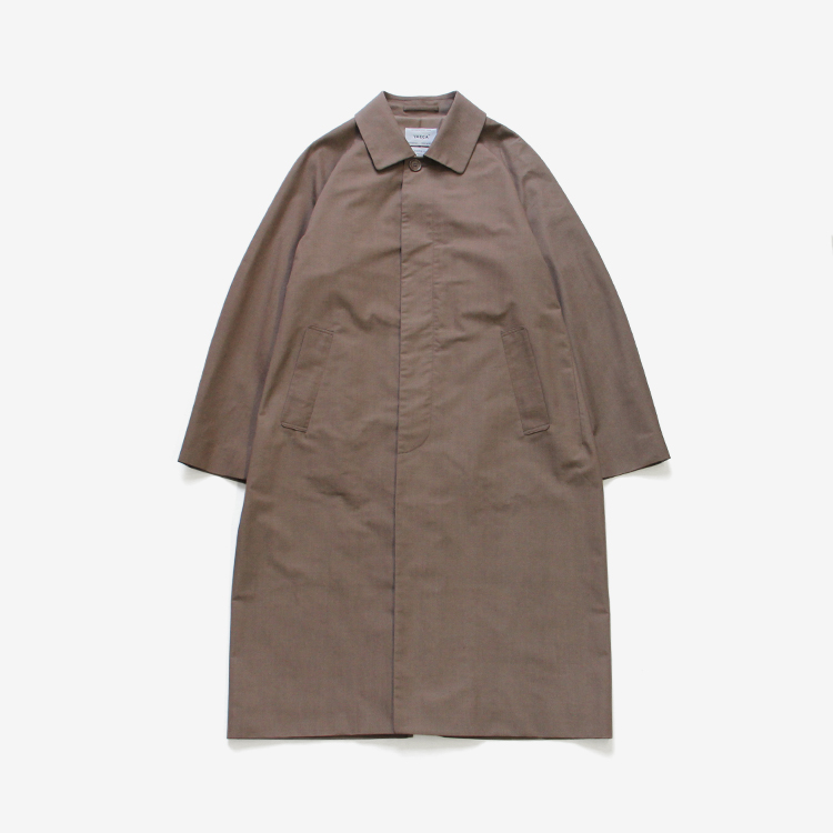 YAECA(MEN) / SOUTIEN COLLAR COAT - LONG / BROWN
