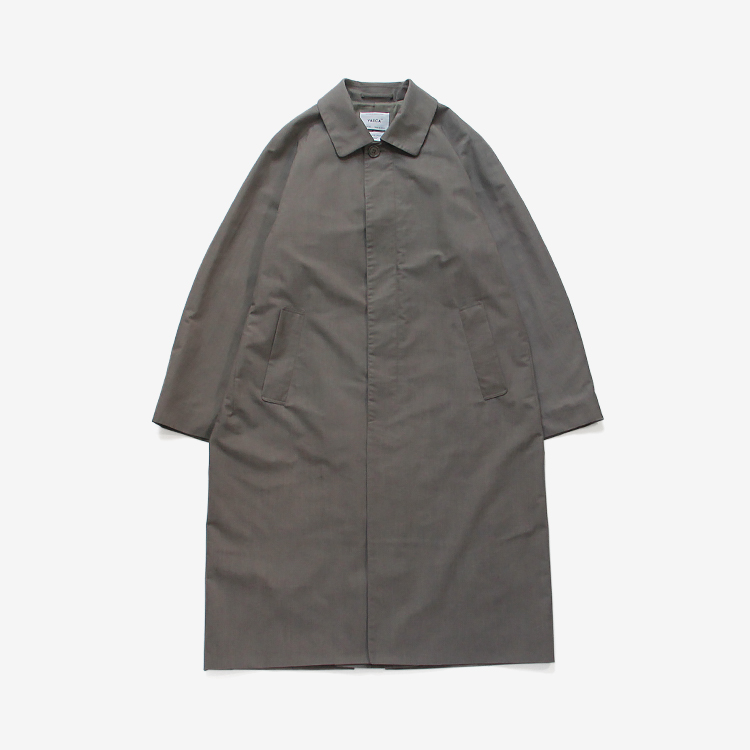 YAECA(MEN) / SOUTIEN COLLAR COAT - LONG / GRAY