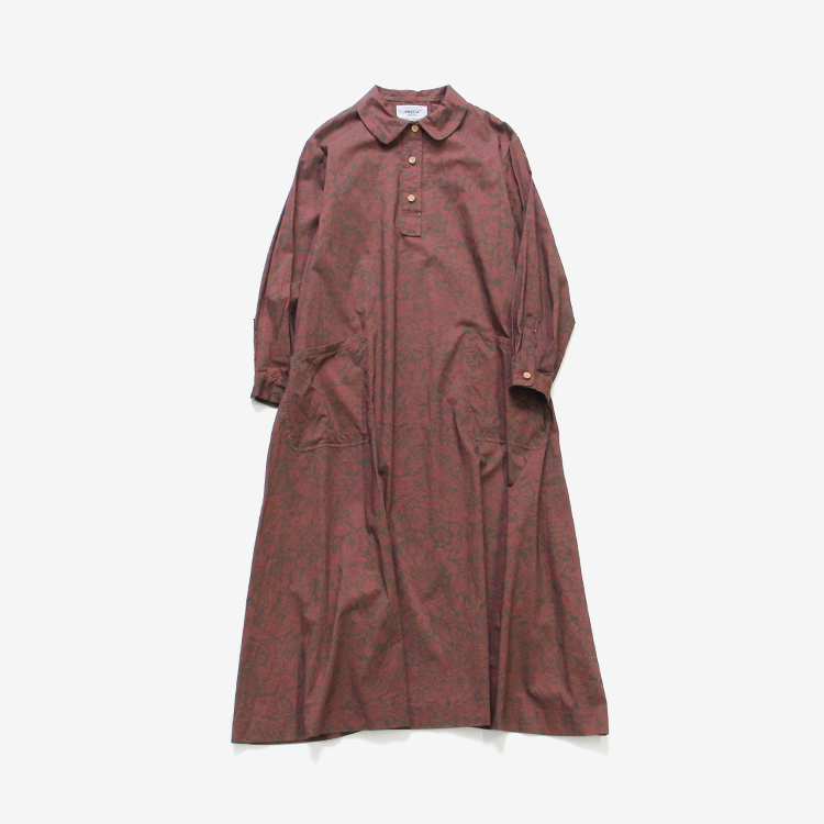 YAECA WRITE(WOMEN) / SHIRT DRESS / STRAWBERRY MEADOW