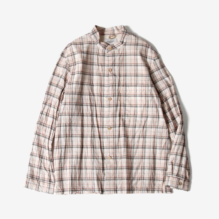 STAND COLLAR JACKET / PINK-CH