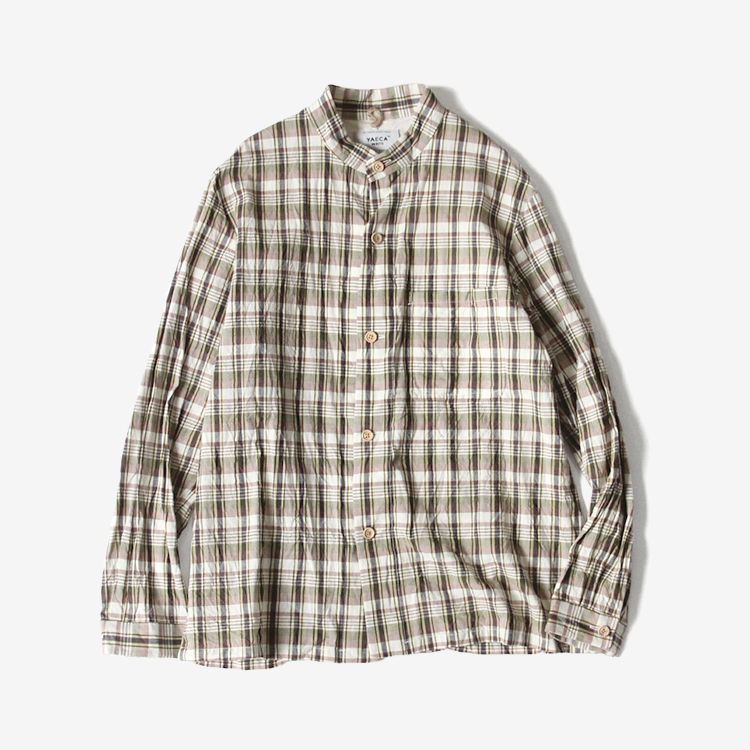 STAND COLLAR JACKET / GREEN-CH