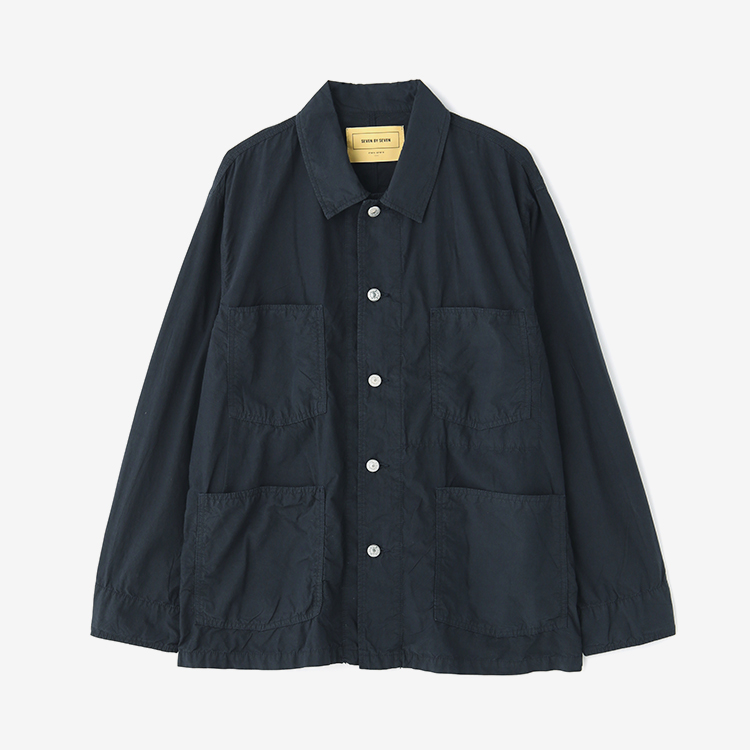 SEVEN BY SEVEN / COTTON SILK COVERALL - Product dyed - / NAVY