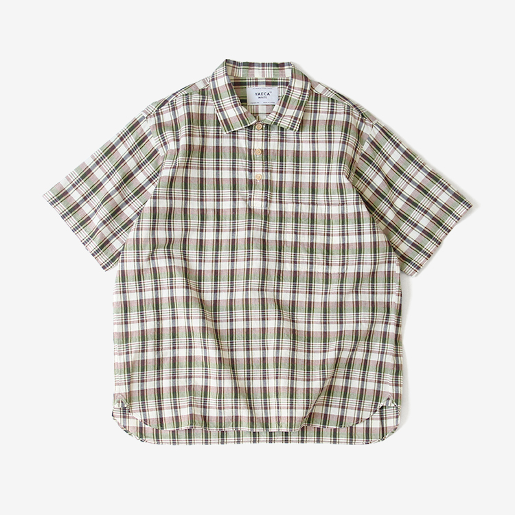 BUTTON SHIRTS PO S/S / GREEN-CH